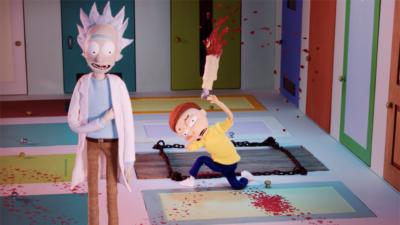 カートゥーンネットワーク Adult Swim 秦俊子監督「Rick and Morty」クラッチ動画 人形・美術制作